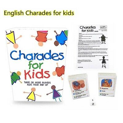 Paul Lamond Charades For Kids Childrens Family Board Picture Games Party