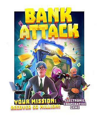 BANK ATTACK GAME Philip Schofield's Top Game by Ideal John Adams Family Friends