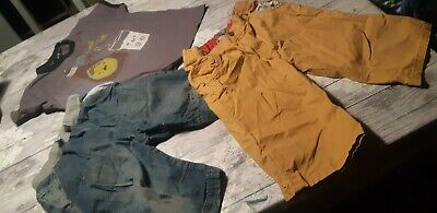 Boys Bundle Age Size 11- 12 Years Old Long Shorts & T-shirt David And Golith TU