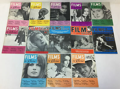 lot of 13 issues ~ FILMS IN REVIEW ~ 1956-1986
