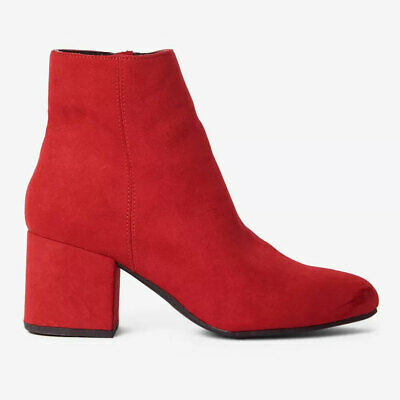 Dorothy Perkins Womens Red Ankle Block Heel Wide Fit Boots Variety Sizes RRP £32