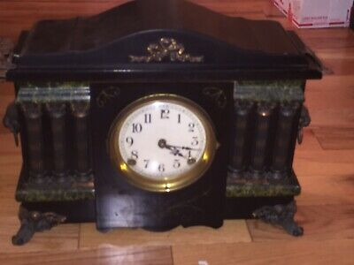 Sessions Clock Co.8 Day 1/2 Hour Dong Cathedral Gong Beautiful Antique Clock Old
