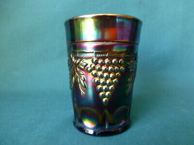Antique Carnival Glass Northwood Grape and Cable Pattern Tumbler