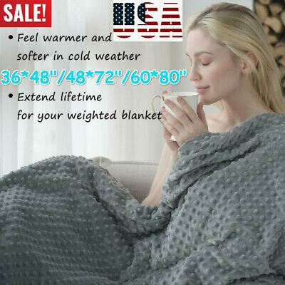 """60""""×80"""" Weighted Blanket Cover Full Queen Size Reduce Stress Promote Deep Sleep"""
