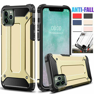 Rugged Rubber Armor Case for iPhone 11 Pro XS Max XR X 6s 7 8 Plus Hybrid Cover