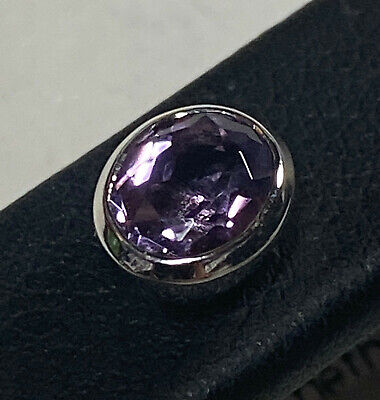 18Ct White Gold & Amethyst Stud Earring Set Valued @ $1249