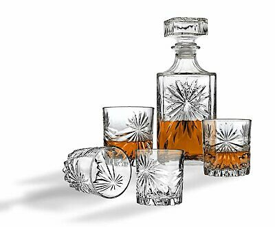 Whiskey Decanter And Glasses Bar Set, Includes Whisky Decanter And 4 Cocktail...