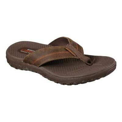 Details about Skechers Mens Relaxed Fit Reggae Cobano Flip Flop Brown 65460 Size 13
