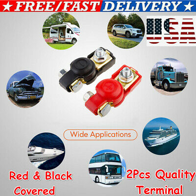 2Pcs Battery Terminal Heavy Duty Car Vehicle Quick Connector Cable Clamp Clip US