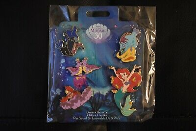 The Little Mermaid Ariel 30th Anniversary Limited Release Pin Set
