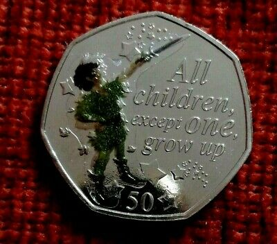 2019 PETER PAN 50 pence piece 90th ANNIVERSARY UNC from a sealed bag + decal