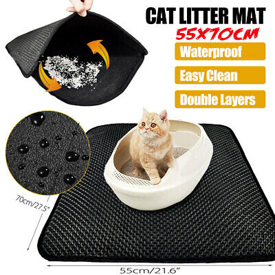 Kitty Litter Trapping Mat Cat Pad Double Layer Honeycomb Design Waterproof AU 🔥