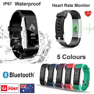 Fitbit Bluetooth Smart Watch With Pedometer Bracelet Style Heart Rate Monitor