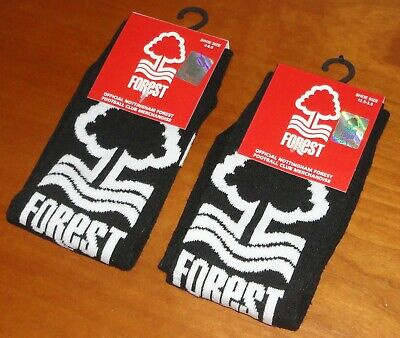 1x Pair Small Boy's or Youths Official Nottingham Forest FC Team Ankle Socks