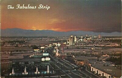 1969 The Fabulous Strip From Atop The Dunes Hotel, Las Vegas, Nevada Postcard