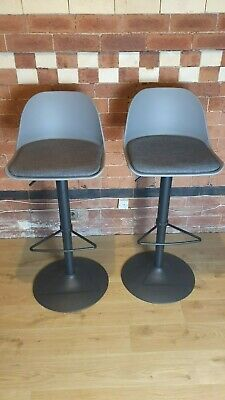House by John Lewis Whistler Gas Lift Adjustable Bar Stools, Set of 2, RRP £199