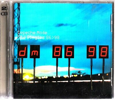 DEPECHE MODE- The Singles 86-98 Best of/Greatest Hits 2-CD Dave Gahan Synth Pop