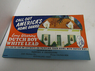 Old Advertising Sign Cardboard Dutch Boy Paint Ad Call Out Americas Home Guard