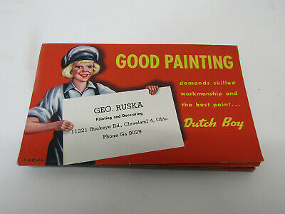 Old Advertising Sign Cardboard Dutch Boy Paint Ad Good Painting