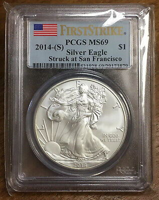 2014 (S) American Silver Eagle PCGS MS69 First Strike $1