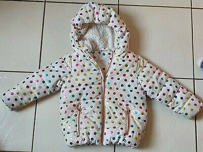NEXT Girls Winter Padded Coat Spotted Jacket Size 2-3 Years