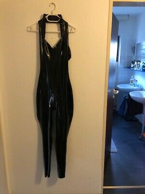 Murray+Vern Latex Catsuit Neckholder,schwarz, Gr.M ,Domina,Fetish,Rubber