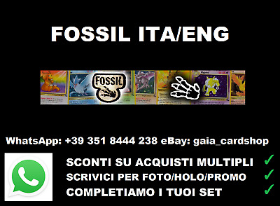 LOTTO CARTE POKEMON FOSSIL RARE 1st/ARTICUNO/ZAPDOS/MOLTRES no Base/Holo/Jungle