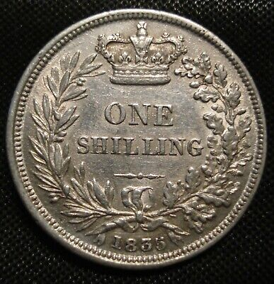 High Grade 1835 William Iv Silver Shilling Sh08 Very Good Detail