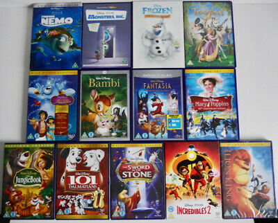 13 Disney / Pixar Dvds Lion King Tangled Frozen Bambi Jungle Book Aladdin *Gr8*