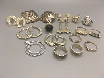 Lot of Sterling Silver Jewelry to Wear, Resell or Scrap Over 100 Grams
