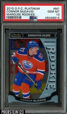 2015-16 O-Pee-Chee OPC Platinum Marquee Connor McDavid RC Rookie PSA 10