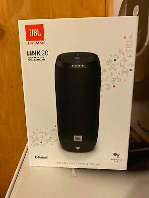 JBL Link 20 Smart Bluetooth Voice Activated Portable Wireless Speaker Black