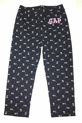 Baby Gap Girl's Floral Printed Cropped Pull On Leggings CB4 Navy Size 4 NWT