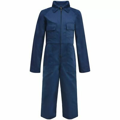 vidaXL Kid's Overalls Uniforms Contractor Working Trousers Size 134/140 Blue