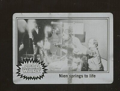 Topps Star Wars Journey to the Force Awakens Printing Plate #BTS-6 NIEN NUNB 1/1