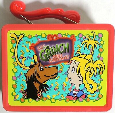 D190. HOW THE GRINCH STOLE CHRISTMAS Tin Lunch box by Universal Studios (2000)