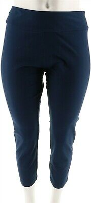 Women with Control Petite Tummy Control Ankle Pants Marine Navy PM NEW A286521
