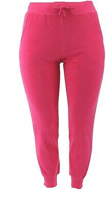 Tracy Anderson GILI Baby Terry Jogger Hot Pink L NEW A309742