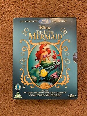 THE LITTLE MERMAID TRILOGY Blu-ray Box Set 3-Movie Complete Disney Collection
