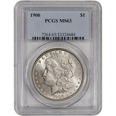 1900 US Morgan Silver Dollar $1 - PCGS MS63