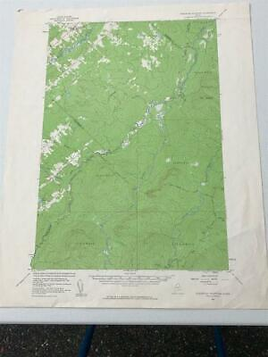 1957 Harwood Mountain Maine USGS Geological Survey Topographic Topo Map