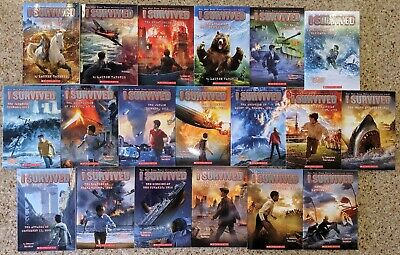 New I Survived 19 Book Series Set Lot Molasses D-Day Grizzlies Lauren Tarshis