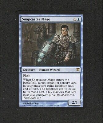 SNAPCASTER MAGE MTG Card Innistrad Blue Creature RARE Magic the Gathering NM