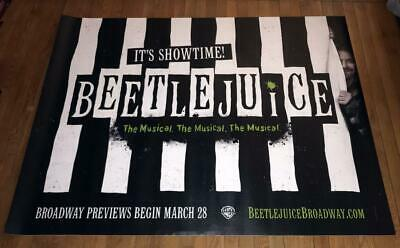 BEETLEJUICE THE MUSICAL BROADWAY NY NYC 5FT subway POSTER 2019
