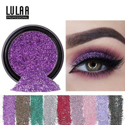 LULAA 2g Shimmer Glitter Eye Shadow Powder Palette Eyeshadow Cosmetic Makeup