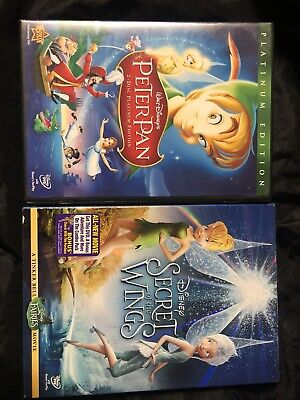 Peter Pan (DVD, 2007, 2-Disc Set, Platinum Edition) &  Secret Of The Wings