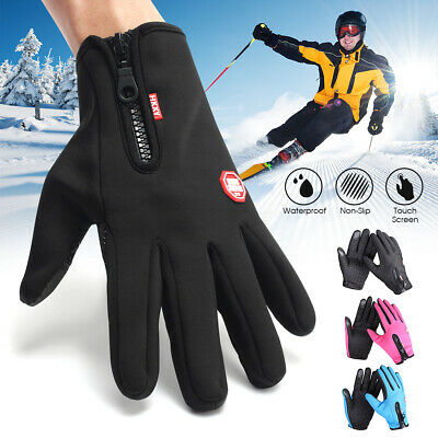 Men Women Touch Screen Cycling Winter Full Finger Windproof Bike  Outdoor sports