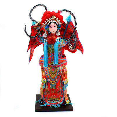Traditional Chinese Art Silk Figurines Doll in Chinese History Dolls Mu GuiYing
