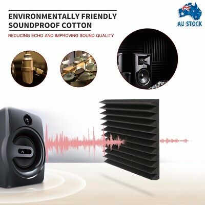 20PCS Studio Acoustic Foam Sound Absorbtion Proofing Panel Wedge 30cm*30cm*5cm