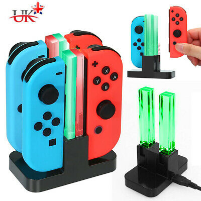 Fit Nintendo Switch Joy-Con Charge Dock Controller Charging LED Stand Charger UK